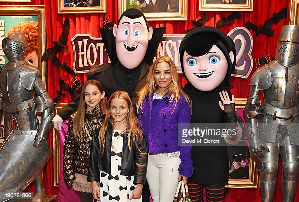 Elen Rivas and children Isla Lampard and Luna Lampard attend a gala screening of Hotel Transylvania 2 at The Soho Hotel on September 27 2015 in...