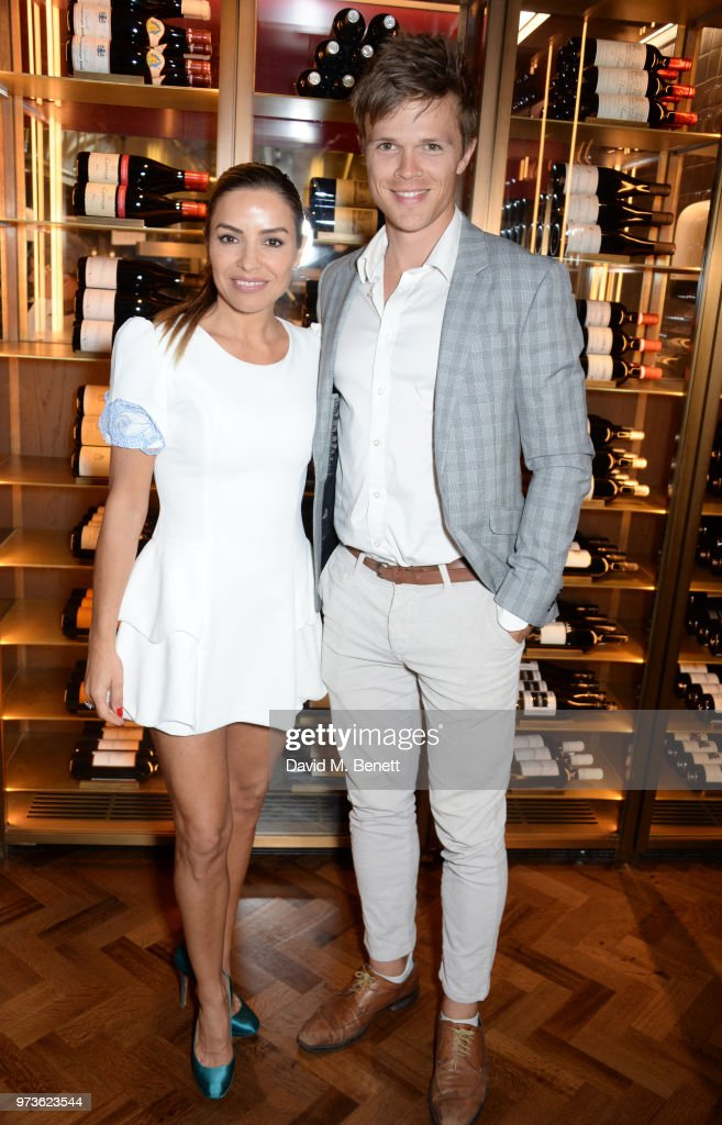 Elen Rivas (L) and Dan Olsen attend the Centrepoint VIP Dinner hosted By Kiera Chaplin & Elen Rivas at Cafe Royal on June 13, 2018 in London, England.