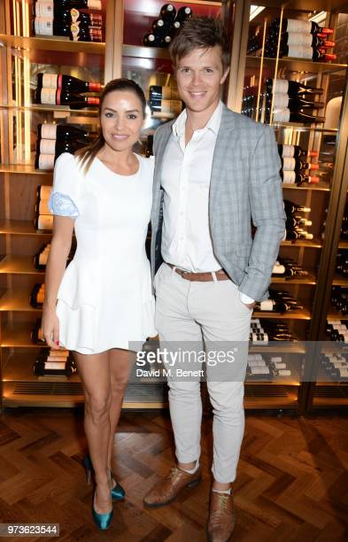 Elen Rivas and Dan Olsen attend the Centrepoint VIP Dinner hosted By Kiera Chaplin Elen Rivas at Cafe Royal on June 13 2018 in London England