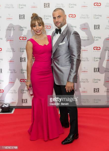 Elen Rivas and Dino Costas attend the Float Like A Butterfly Ball in aid of Caudwell Children at The Grosvenor House Hotel on November 16 2019 in...