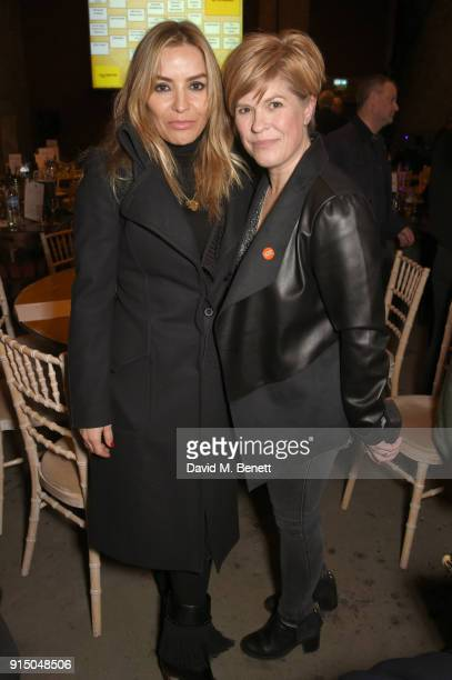 Elen Rivas and Emma B attend Centrepoint's 10th annual Ultimate Pub Quiz at The Village Underground on February 6 2018 in London England