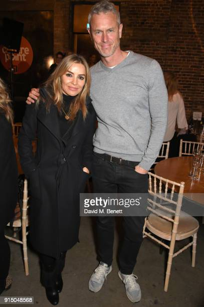 Elen Rivas and Mark Foster attend Centrepoint's 10th annual Ultimate Pub Quiz at The Village Underground on February 6 2018 in London England