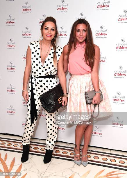 Elen Rivas and Michelle Heaton attend the Caudwell Children London Ladies Lunch held at The Dorchester on October 12 2018 in London England