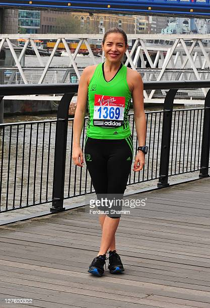 Elen Rivas attends a photocall ahead of the Virgin London Marathon at The Tower Hotel on April 15 2011 in London England