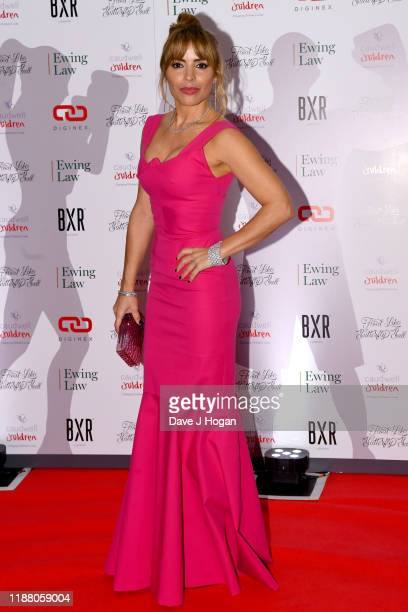 Elen Rivas during the Float Like A Butterfly Ball for Caudwell Children VIP drinks reception at The Grosvenor House Hotel on November 16 2019 in...