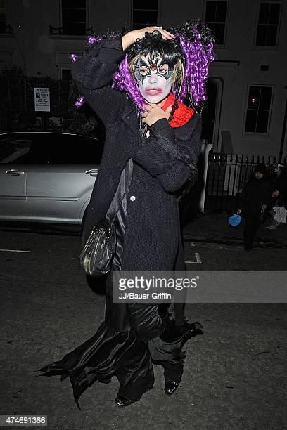 Elen Rivas is seen in Halloween costume on October 31 2012 in London United Kingdom