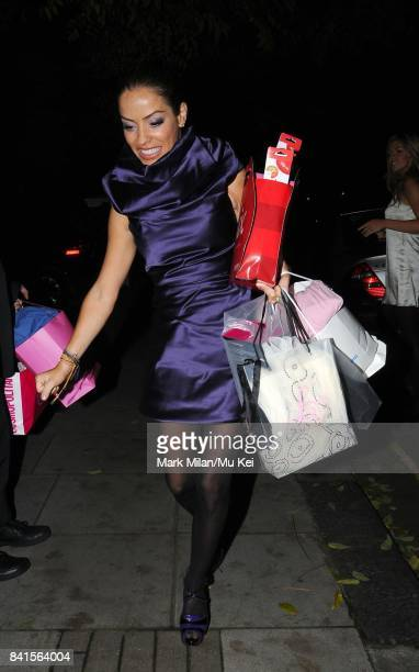 Elen Rivas is seen leaving the 'Woman of the Year Awards' in London