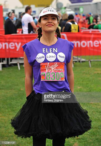 Elen Rivas takes part in the Virgin London Marathon on April 17 2011 in London England