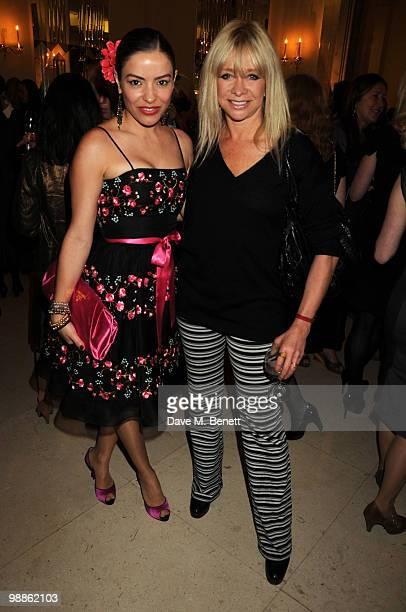 Elen Rives and Jo Wood attend the SHE Inspiring Women Awards at Claridges Hotel on May 5 2010 in London England