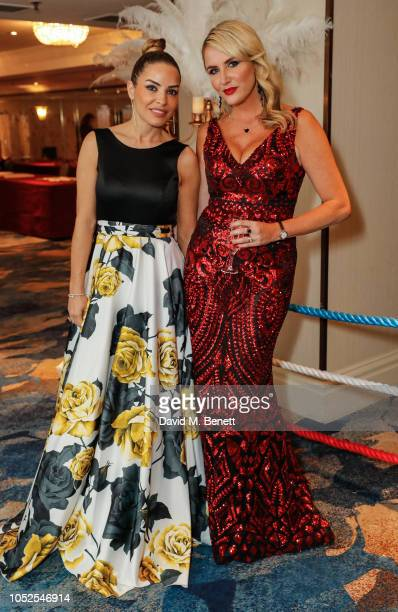 Elen Rives and Nancy Sorrell attends The Float Like A Butterfly Ball 2018 the annual black tie boxing gala in aid of Caudwell Children at The...