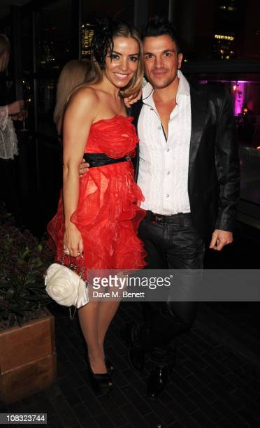Elen Rives and Peter Andre attend InStyle's Best Of British Talent Party in association with Lancome at Shoreditch House on January 25 2011 in London...
