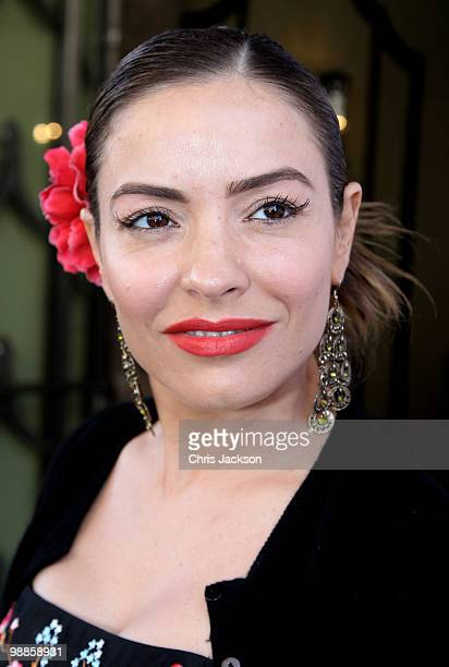 Elen Rives arrives at the SHE Inspiring Women Awards at Claridges on May 5 2010 in London England