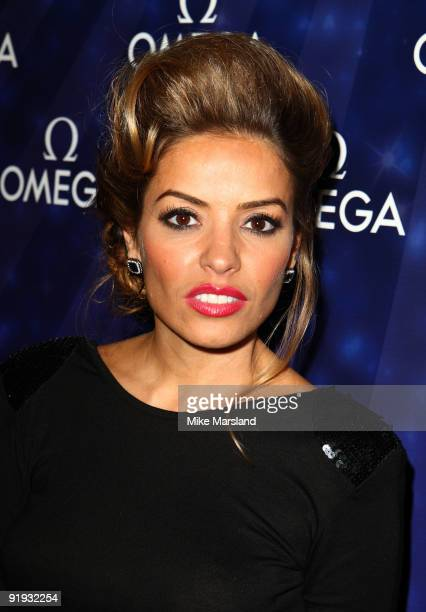 Elen Rives attends the launch of the OMEGA Constellation 2009 collection on October 15 2009 in London England