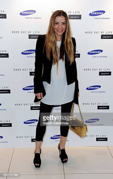 Elen Rives attends the launch of the Samsung Galaxy S Smartphone held at Altitude Bar on June 15 2010 in London England