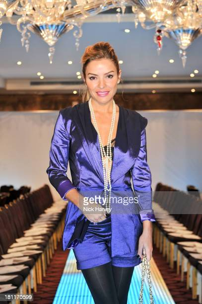 Elen Rives attends the Nina Naustdal Runway show following London Fashion Fashion Week SS14 at The Mayfair Hotel on September 19 2013 in London...