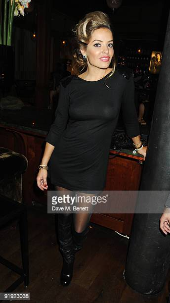 Elen Rives attends the OMEGA constellation 2009 launch party at Almada on October 15 2009 in London England