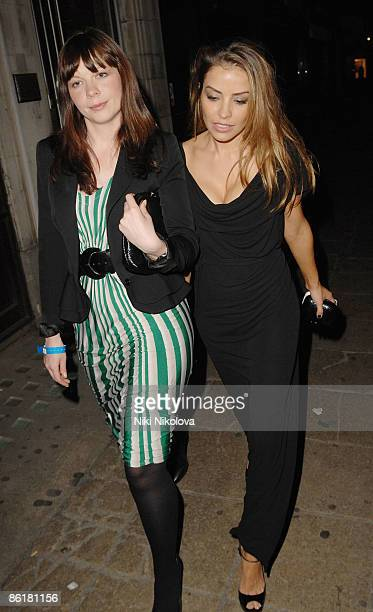 Elen Rives Leaves Nobu Berkley on April 23, 2009 in London, England.