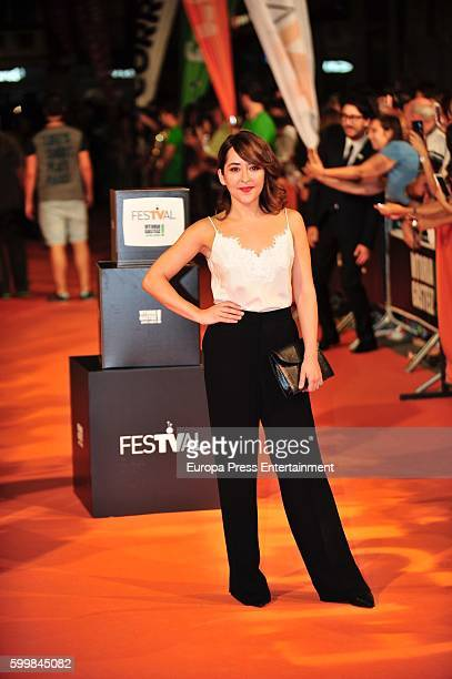 Elena Alferez attends 'Olmos y Robles' premiere at the Principal Theater during FesTVal 2016 on September 6 2016 in VitoriaGasteiz Spain