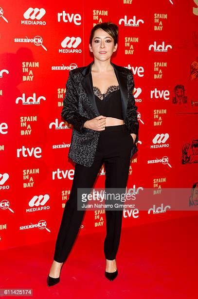 Elena Alferez attends 'Spain In A Day' premiere at Verdi Cinema on September 29 2016 in Madrid Spain