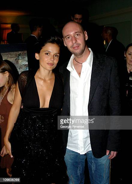 Elena Anaya and director Jaume Balaguero during 2005 Venice Film Festival Fragile Party in Venice Lido Italy