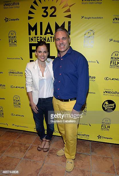 Elena Anaya and Jaie Laplante attends the They Are All Dead during the 2015 Miami International Film Festival at Cinepolis Grove 13 Theaters on March...