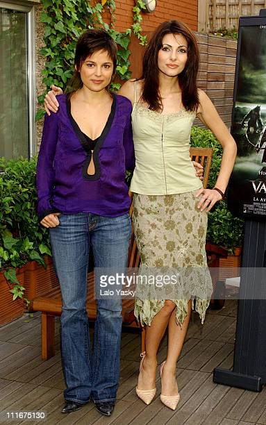 Elena Anaya and Silvia Colloca during Van Helsing Photocall Madrid at Hesperia Hotel in Madrid Spain