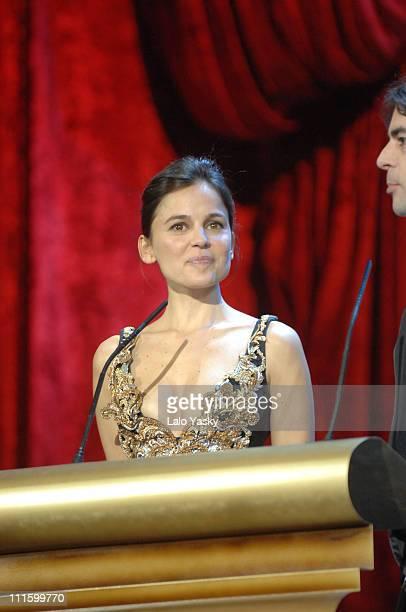 Elena Anaya during 2007 Goya Awards Ceremony at Palacio de Exposiciones in Madrid Spain