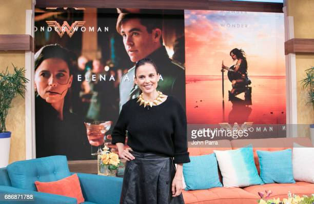 Elena Anaya is seen on the set of 'Despierta America' at Univision Studios to promote the film 'Wonder Woman' on on May 22, 2017 in Miami, Florida.