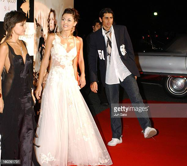 Elena Anaya Silvia Colloca and Ali Alborzi during 'Van Helsing' Tokyo Premiere at Meiji Shrine Shotoku Memorial Exhibition Hall in Tokyo Japan