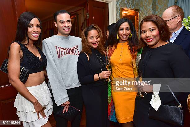 Elena Ayot Victor de Souza Alisha Beverly Dawne Marie Grannum and Sophia Bishop attend Martin and Jean Shafiroff Host Thanksgiving Cocktails for NYC...