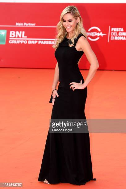 """Elena Ballerini attends the red carpet of the movie """"Borat"""" during the 15th Rome Film Festival on October 23, 2020 in Rome, Italy."""