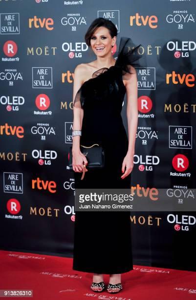 Elena Ballesteros attends Goya Cinema Awards 2018 at Madrid Marriott Auditorium on February 3 2018 in Madrid Spain