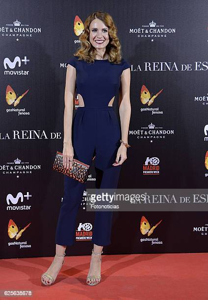 Elena Ballesteros attends 'La reina de Espana' Madrid premiere at Callao City Lights cinema on November 24 2016 in Madrid Spain