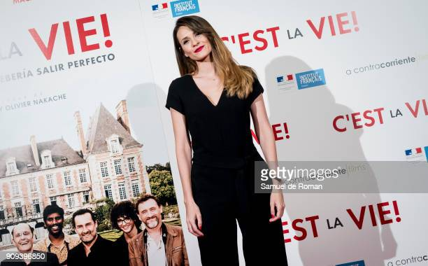 Elena Ballesteros attends the 'C'Est La Vie' Madrid premiere on January 23 2018 in Madrid Spain