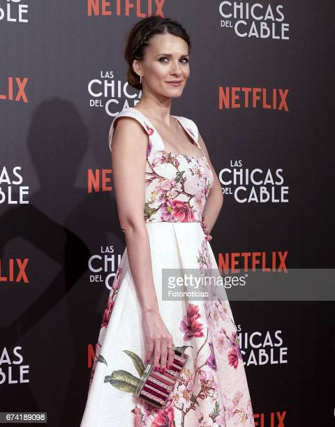 Elena Ballesteros attends the 'Las Chicas del Cable' Netflix Tv Series premiere at Callao Cinema on April 27 2017 in Madrid Spain