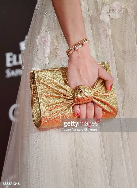 Elena Ballesteros clutch bag detail attends Goya Cinema Awards 2017 at Madrid Marriott Auditorium on February 4 2017 in Madrid Spain