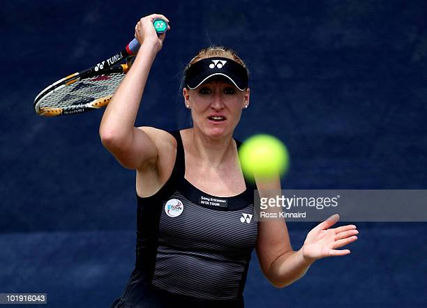 Elena Baltacha of Great Britain during the first round match match at The AEGON Classic between Elena Baltacha and Kaia Kanepi at the Edgbaston...