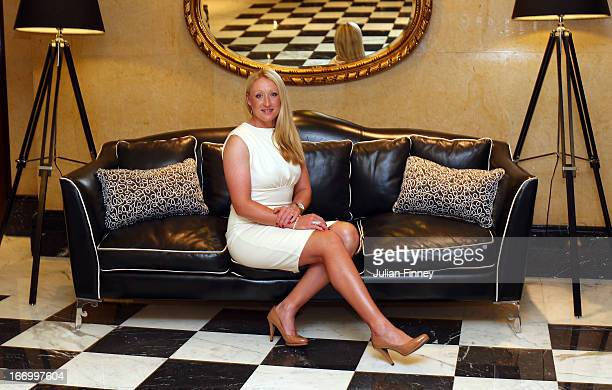 Elena Baltacha of Great Britain poses for a photo at the Pan Americano Hotel during previews ahead of the Fed Cup World Group Two Play-Offs between...