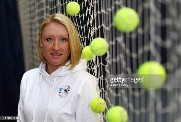 Elena Baltacha of Great Britain poses for the camera at the National Tennis Centre on November 29, 2010 in Roehampton, England.