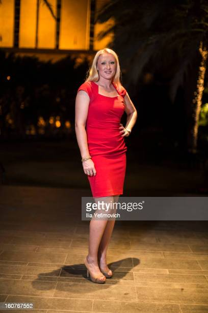 Elena Baltacha of Great Britain posing for a picture before the official team dinner ahead of the Fed Cup Group B matches in the Euro/Africa Zone...