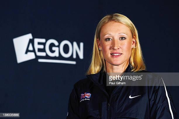 Elena Baltacha of the AEGON GB Fed Cup Team poses on January 25, 2012 in London,England.