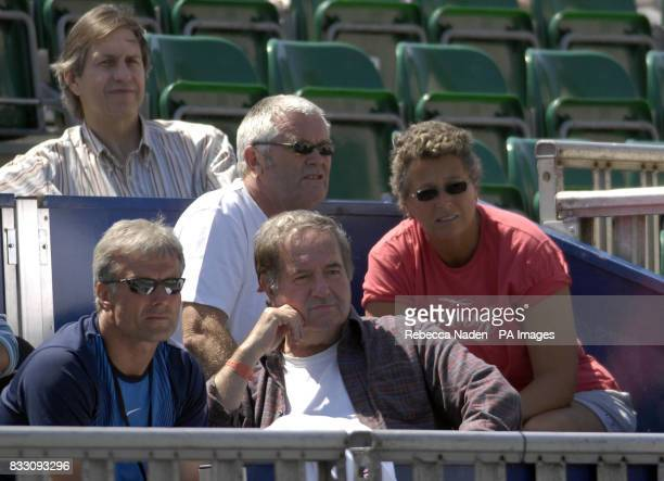 Elena Baltacha's coach Jo Durie in the stands on centre court during the International Women's Open at Devonshire Park Eastbourne