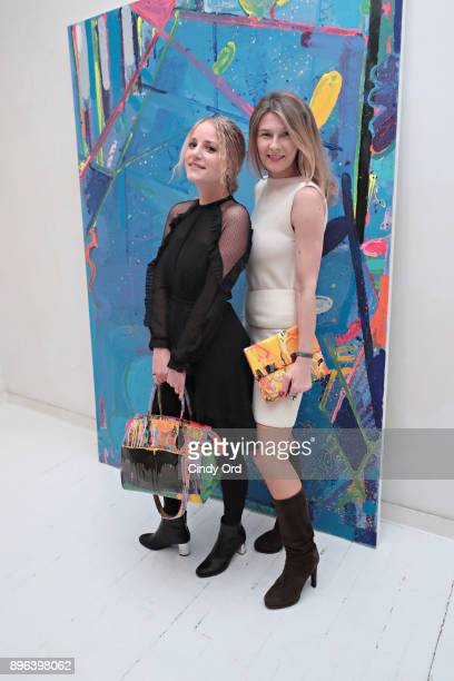 Elena Baltzoglou and DZZoneNYC producer Daniela Zahradnikova attend the Reginato X DZZone NYC launch holiday party with limited edition DZZone...