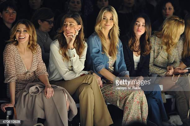 Elena Barolo, Alessandra Grillo, Elena Santarelli and Valentina Scambia attend the Kristina Ti Show during Milan Fashion Week Womenswear...