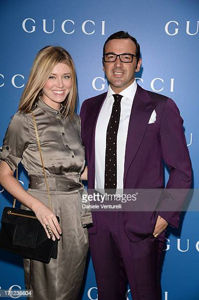 Elena Barolo and Alessandro Martorana attend Gucci Men's Flagship Store Opening and Launch of Gucci Made to Measure Capsule Collection 'Lapo's...