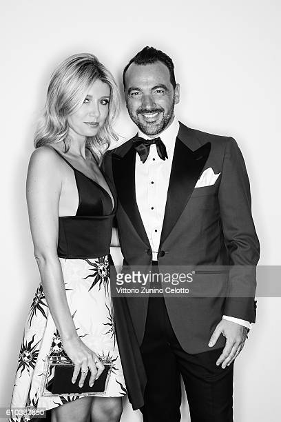 Elena Barolo and Alessandro Martorana pose for a portrait during amfAR Milano 2016 at La Permanente on September 24 2016 in Milan Italy