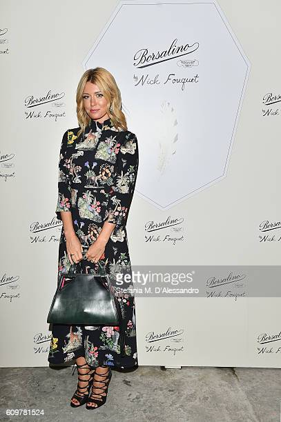 Elena Barolo attends Borsalino By Nick Fouquet Capsule Collection Cocktail Launch during Milan Fashion Week Spring/Summer 2017 on September 22 2016...