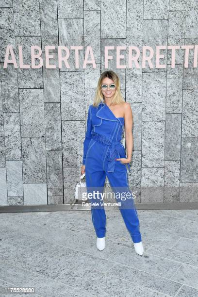 Elena Barolo attends the Alberta Ferretti fashion show during the Milan Fashion Week Spring/Summer 2020 on September 18, 2019 in Milan, Italy.