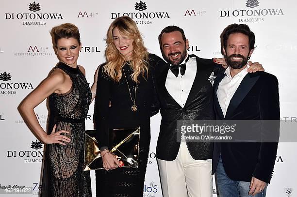 Elena Barolo Elenoire Casalegno Alessandro Martorana and Sebastiano Lombardi attend Alessandro Martorana's birthday party on January 29 2015 in Milan...