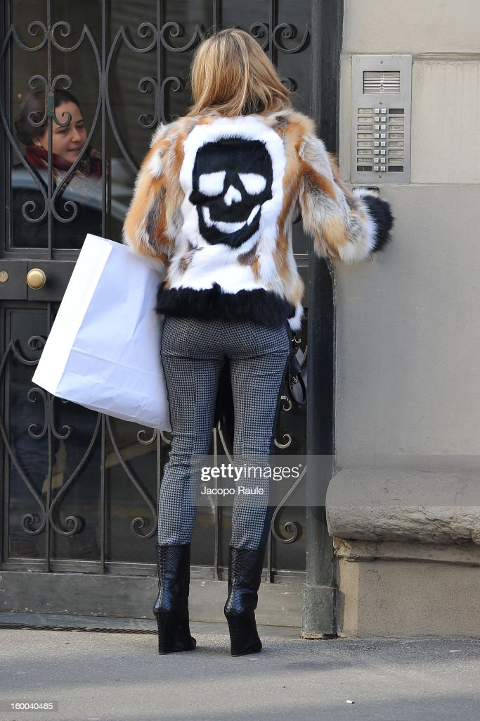 Elena Barolo is seen on January 25, 2013 in Milan, Italy.